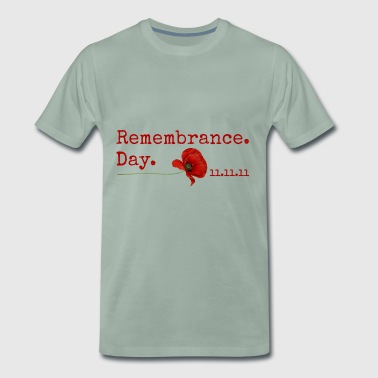 Mindedag. 11.11.11. Red Poppy Gifts - Herre premium T-shirt