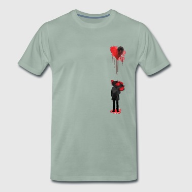 Sad Heart / Bleeding Rain - Men's Premium T-Shirt