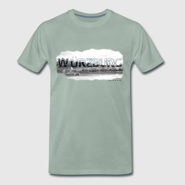 Würzburg from favorite region (skyline) - Men's Premium T-Shirt
