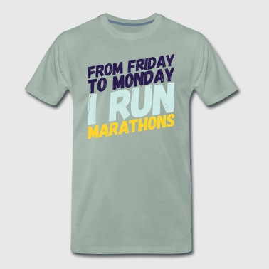 marathon runner - Men's Premium T-Shirt