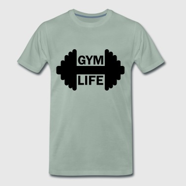 Dumbbell Gym Life Fitness Gainz Biceps - Camiseta premium hombre