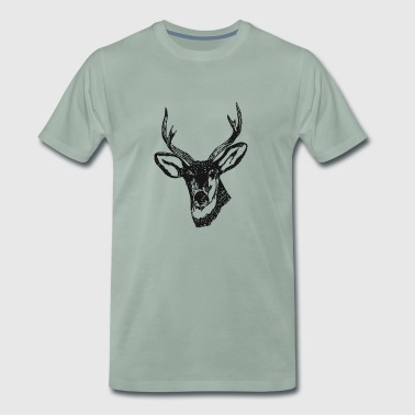 Deer stag head antler gift - Men's Premium T-Shirt