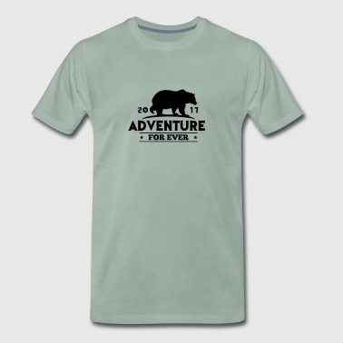 ADVENTURE FOR EVER - GRIZZLY - Mannen Premium T-shirt