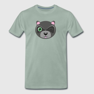 Raccoon family - son - Men's Premium T-Shirt