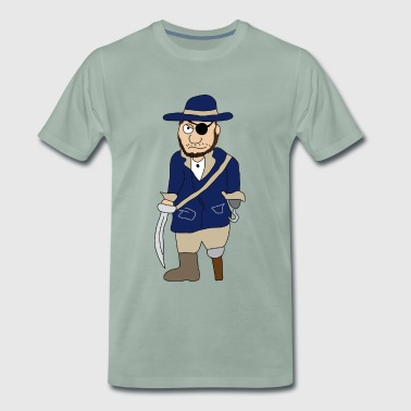 piraten | Pirate | Houten been piraatoog patch - Mannen Premium T-shirt