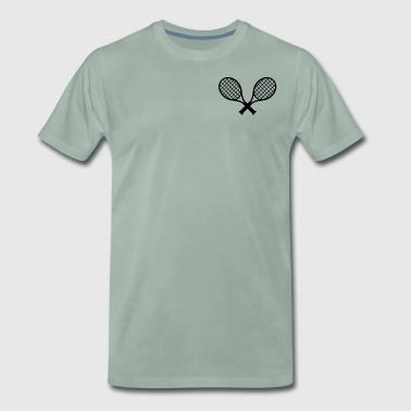 tennisracket - Mannen Premium T-shirt