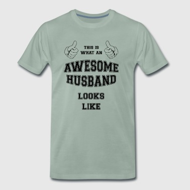 AWESOME HUSBAND - Men's Premium T-Shirt