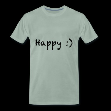 happy - Premium T-skjorte for menn