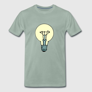 lightbulb light bulb gluehbirne gluehlampe lamp9 - Männer Premium T-Shirt