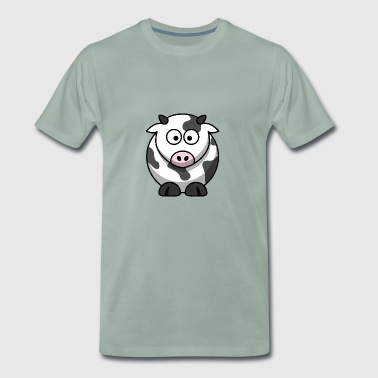 Spotted cow cartoon - Men's Premium T-Shirt