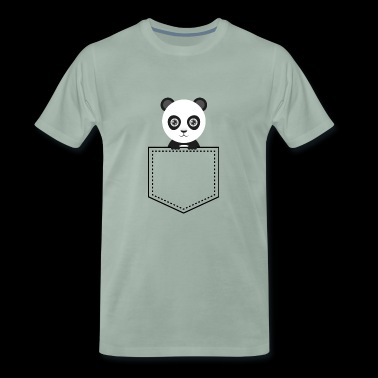 Pocket Animal - Panda Bear - Men's Premium T-Shirt