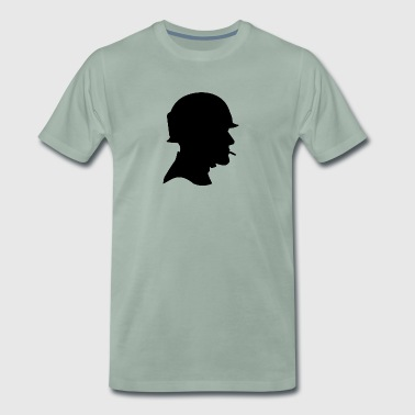 American Soldier (US Army) with a helmet - Men's Premium T-Shirt