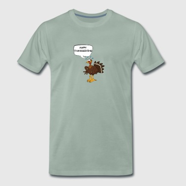 Scary Thanksgiving funny Thanksgiving party - Men's Premium T-Shirt