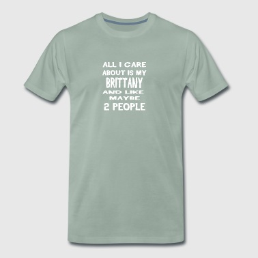 Dog i care about is my BRITTANY - Men's Premium T-Shirt