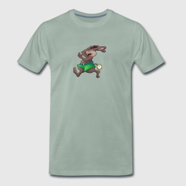 Too late! - Hare with clock - Men's Premium T-Shirt