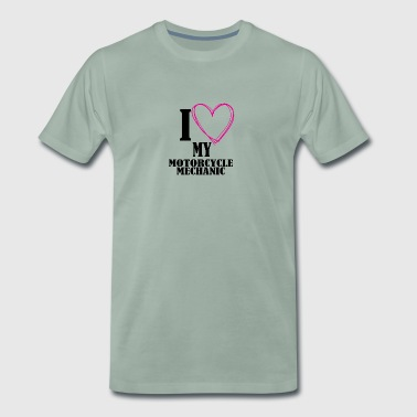 I love my motorcycle mechanic - Men's Premium T-Shirt