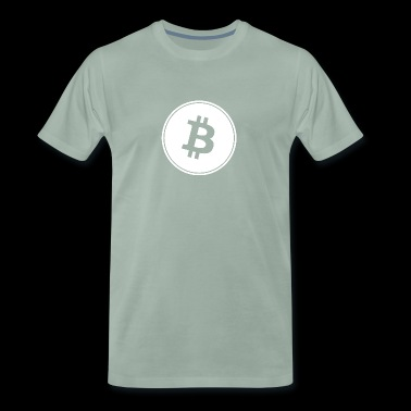 Bitcoin in White Transparent. - Men's Premium T-Shirt