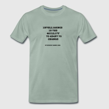 Intelligentie is V2 - Mannen Premium T-shirt