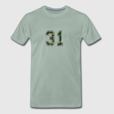 Numbers Camouflage Paintball Bundeswehr 31 - Men's Premium T-Shirt