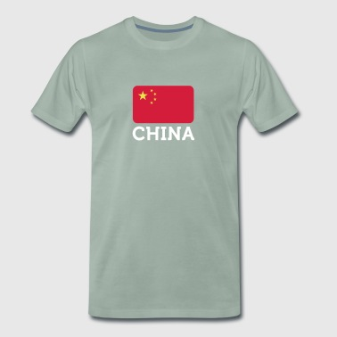 National Flag Of China - Herre premium T-shirt