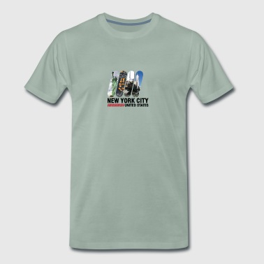 New York City, USA - Herre premium T-shirt