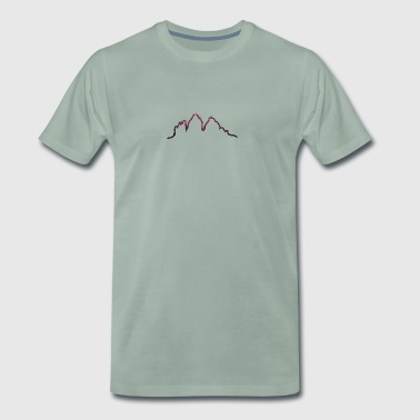Dolomites Three peaks Morgendämmerung - Men's Premium T-Shirt