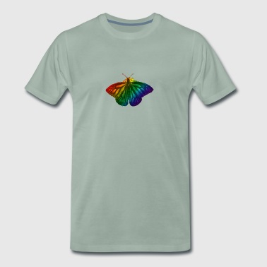 Rainbow butterfly - Freedom, Love and Happiness - Men's Premium T-Shirt