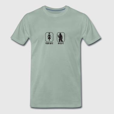 Comparer: Your Wife vs. ma femme - T-shirt Premium Homme