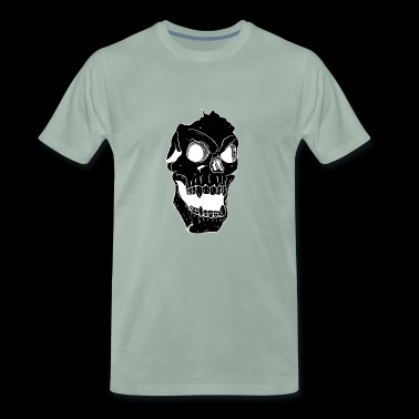 Terror Death Head Illustration - Premium-T-shirt herr