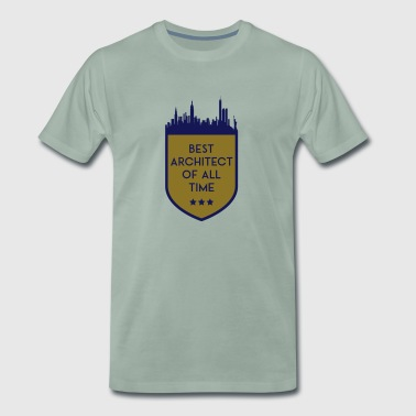 BEST ARCHITECT OF ALL TIME SHIELD - Men's Premium T-Shirt