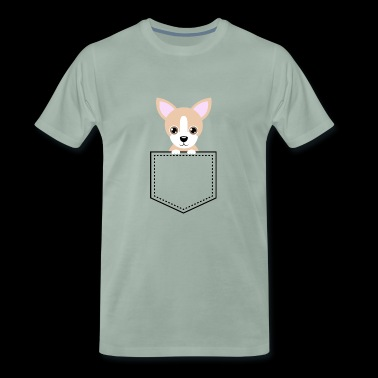 Pocket Animal - Chihuahua - Men's Premium T-Shirt