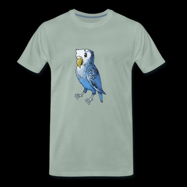 wellensittich budgie budgerigar birds voegel - Männer Premium T-Shirt