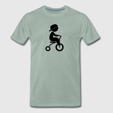 Garçon qui monte son tricycle - T-shirt Premium Homme