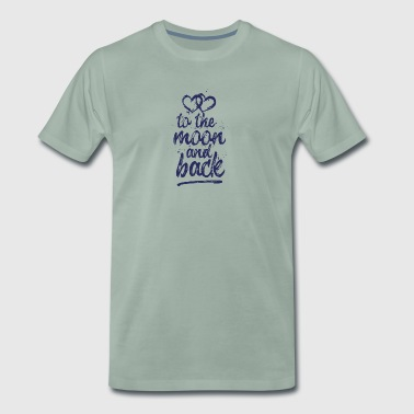 Love you To the moon and back - jeansblue - Men's Premium T-Shirt