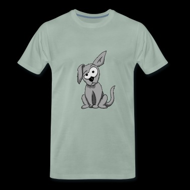 weird dog floppy ear funny cartoon gift - Men's Premium T-Shirt