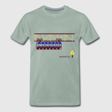 Wuppertal suspension ferroviaire - T-shirt Premium Homme