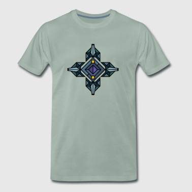 Wolf, wolfpack, wolves, geometric style, triangle, - Men's Premium T-Shirt