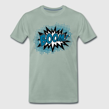 BOOM!, Comic Style Speech Bubble Bang, Kapow, Pow - Männer Premium T-Shirt