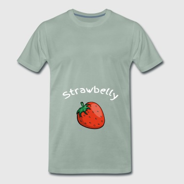 Strawbelly strawberry belly strawberry tummy gift - Men's Premium T-Shirt