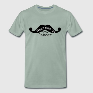 Mustache vs. cancer.Gifts for Barbers, Beauticians - Men's Premium T-Shirt