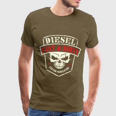 Diesel Power Fast og Dirty Powerstroke Gear - Premium T-skjorte for menn