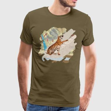 Tiger Cub - Mixed Media Digital art - Men's Premium T-Shirt