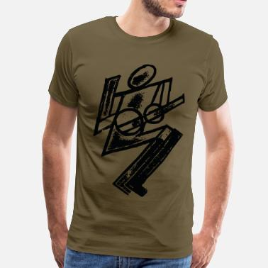 Futurist Guitarist - Men's Premium T-Shirt