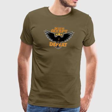 Army military Eagle Stars Never Accept Defeat - Männer Premium T-Shirt