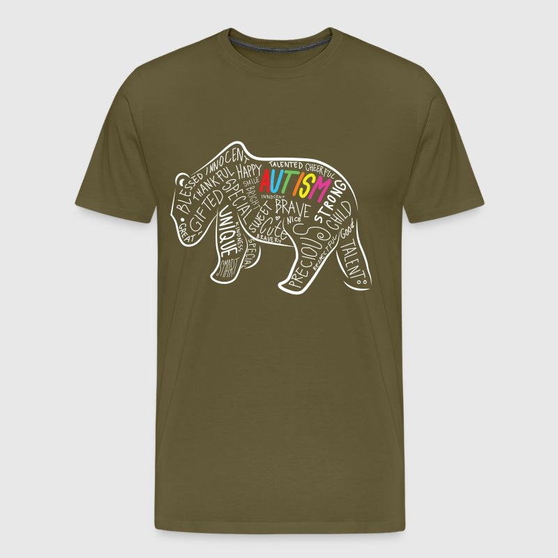 Daddy Bear Autism Awareness Birthday Shirt - Men's Premium T-Shirt