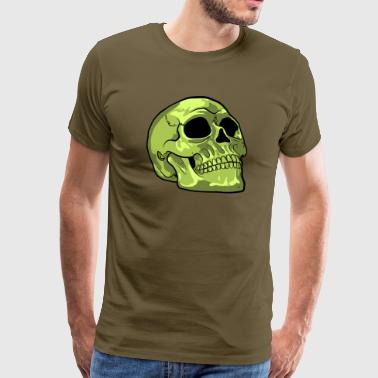 Green Vector Death's Head - Men's Premium T-Shirt