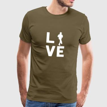 Dance With Me COUNTRY DANCE LOVE - Graphic Shirt - Männer Premium T-Shirt