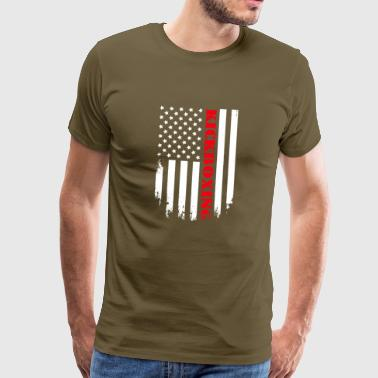 American Flag Patriotic Kickboxing Player - Flag - Männer Premium T-Shirt