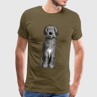 Irish Wolfhounds Sweet Irish wolfhound - cartoon - comic - funny  - Men's Premium T-Shirt