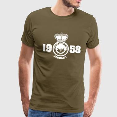 Birthday January 1958 - Men's Premium T-Shirt